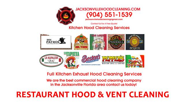 Jacksonville FL Kitchen Hood Fan Cleaning Services