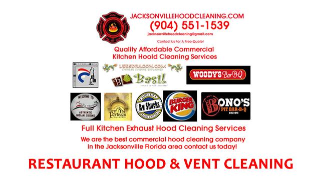 Jacksonville FL Restaurants Kitchen Hood Cleaning Services