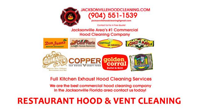 Jacksonville FL Certified Exhaust Hood Cleaner