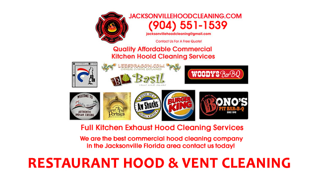St. Johns County FL Restaurant Kitchen Hood Cleaning Services