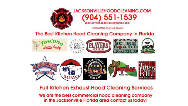 Restaurant Grease Kitchen Hood Maintenance Jacksonville Duval County Florida